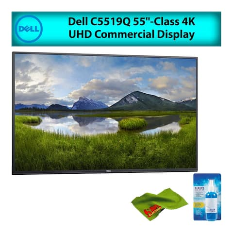 "Dell C5519Q 55"" Inch Class 4K UHD LED Commercial Display Monitor for Office Meetings Best Value Bundle w/ Screen Cleaning Kit"