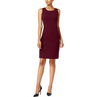 Kasper Womens Wear to Work Dress Crepe Sleeveless