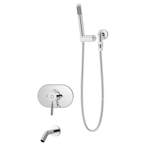 Symmons S-4304-1.5-TRM Sereno Tub and Shower Trim Package with 1.5 GPM Single Function Hand Shower