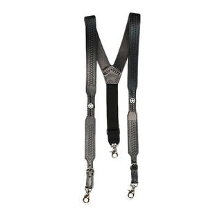 Nocona Suspenders Mens Tough Galluse Embossed Star Black
