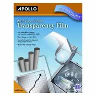 Apollo c-o Acco World Transparency Film- 8-.50 x11in.- Black on Clear