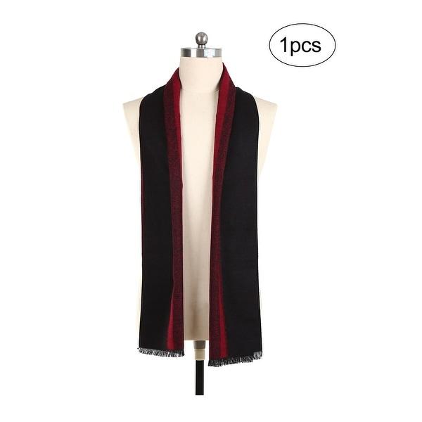 Men Plaids Pattern Warm Soft Wrap Shawl Long Scarves Black,Burgundy - Black+Burgundy - 70 7/8 x 12 5/8 inches. Opens flyout.