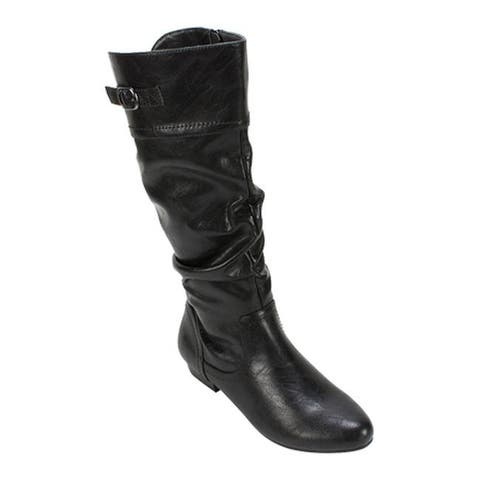 Cliffs by White Mountain Women's Fox Slouch Boot Black Smooth Synthetic