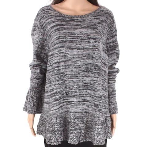 Style & Co Women's Sweater Heather Gray Size 3X Plus Pullover Knit