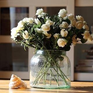 """RusticReach Eco PE Camellia Bloom Stem Set in White 16"""" Tall"""
