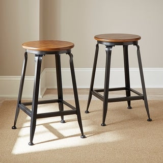 """Link to Copper Grove Acanthus 24-inch Counter-height Stool (Set of 2) - 14""""W x 24""""H Similar Items in Dining Room & Bar Furniture"""