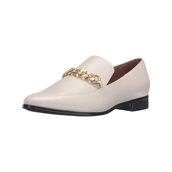 Calvin Klein Womens Fanna Loafers Leather Chain