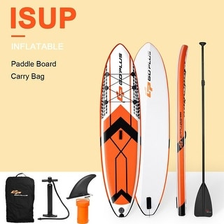Goplus 10.5' Inflatable Stand Up Paddle Board SUP W/ Fin Adjustable