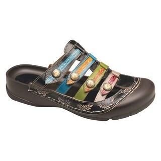 Women's Strappy Bump-Toe Sandal Slip-Ons
