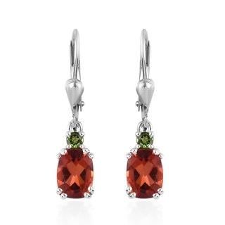 Link to Silver Andesine Labradorite Chrome Diopside Dangle Earrings Ct 2.35 Similar Items in Earrings
