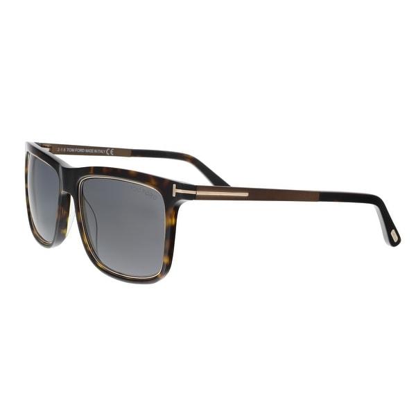 378df8ca25a Shop Tom Ford FT0392 S 52J KARLIE Dark Havana Square Sunglasses - 57 ...