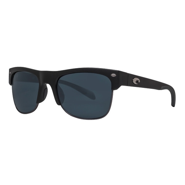a94c27b5829 Costa Del Mar Pawleys PW11OGP Matte Black 580P Gray Polarized Square  Sunglasses - MATTE BLACK -