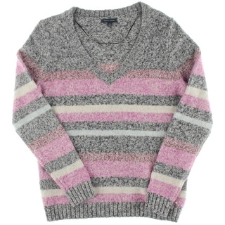 Tommy Hilfiger Womens V Neck Knit Pullover Sweater
