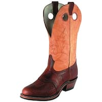 Boulet Western Boots Mens Leather Buckaroo Cognac Butterscotch