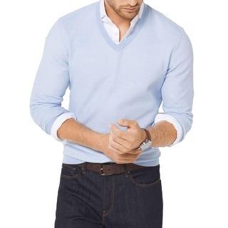 Michael Kors NEW Light Blue Mens Size XL V-Neck Sweater Cotton