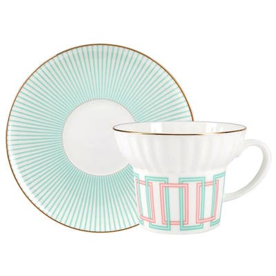 Imperial Porcelain Factory Geometry 4 Bone China Cup and Saucer Set