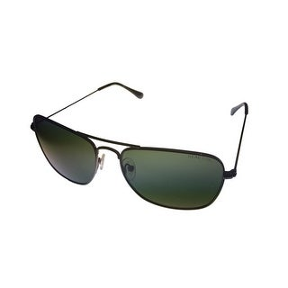 Kenneth Cole Reaction Metal Sunglass Black Square Metal , Smoke Lens KC1249 8N - Medium