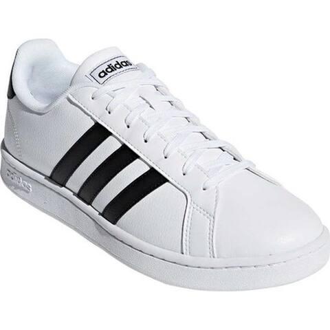 adidas Men's Grand Court Sneaker FTWR White/Core Black/FTWR White Leather