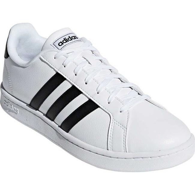adidas Men's Grand Court Sneaker FTWR WhiteCore BlackFTWR White Leather