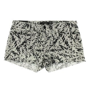 J Brand Womens Printed Low-Rise Cutoff Shorts - 30