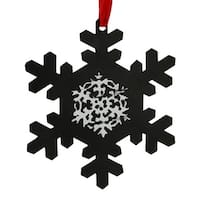 "5.25"" Traditional Style Chalkboard Finished Black Snowflake Christmas Ornament"