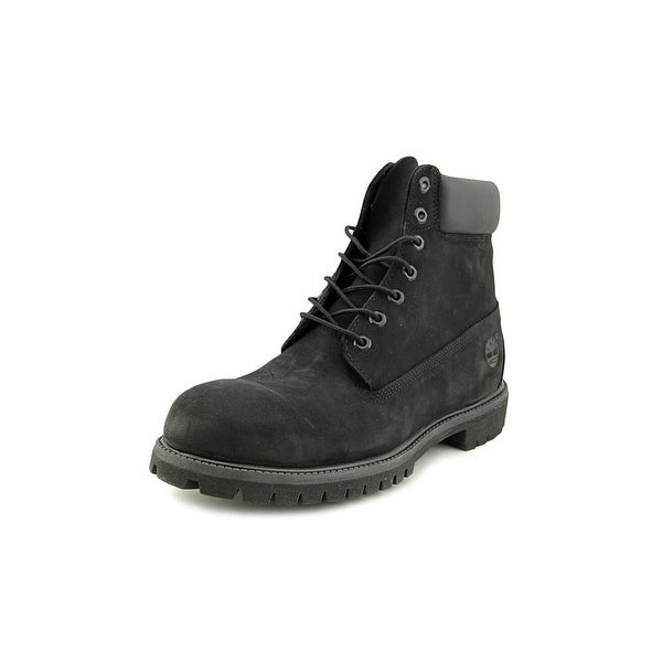 Timberland 6 in Prem Men Round Toe Leather Black Work Boot