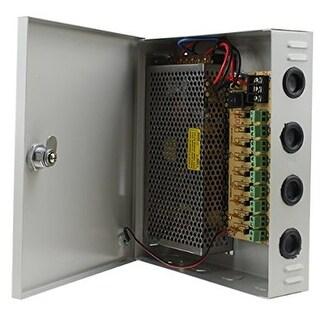 AGPtek 9 Channel CCTV Security Camera Power Supply Box 12 V 10A DC