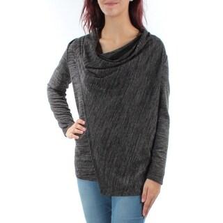 ALFANI Womens Gray Long Sleeve Cowl Neck Top  Size: M