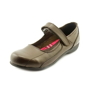 Hush Puppies Pep Rally Youth Round Toe Leather Brown Mary Janes
