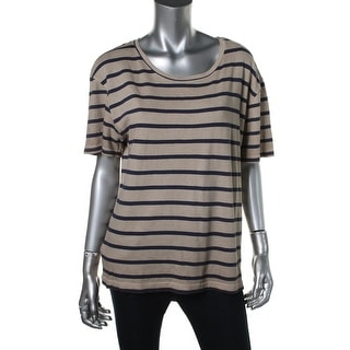 Zara Special-T Womens Striped Short Sleeves T-Shirt - S