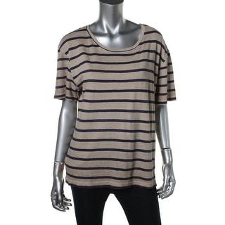 Zara Special-T Womens Striped Short Sleeves T-Shirt - S