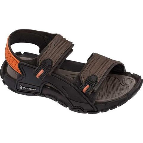 Rider Children's Tender X Two Strap Sandal Brown Synthetic