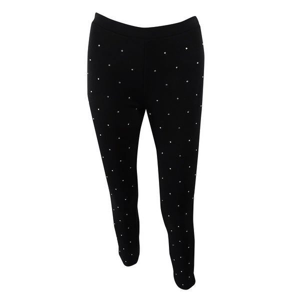 0ba0d8e3d77c2 Shop MICHAEL Michael Kors Women's Petite Studded Leggings (PS, Black) -  Black - PS - Free Shipping Today - Overstock - 24089123