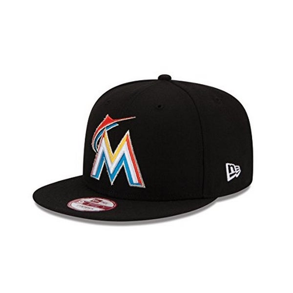 super popular 81243 50972 New Era Mens Baycik 950 Miami Marlins Snapback - Black