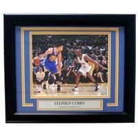Stephen Curry Framed 8x10 Golden State Warriors vs Kobe Bryant Photo