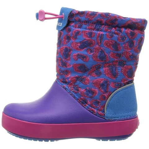 Crocs Kids' Crocband LodgePoint Graphic Boot - 6