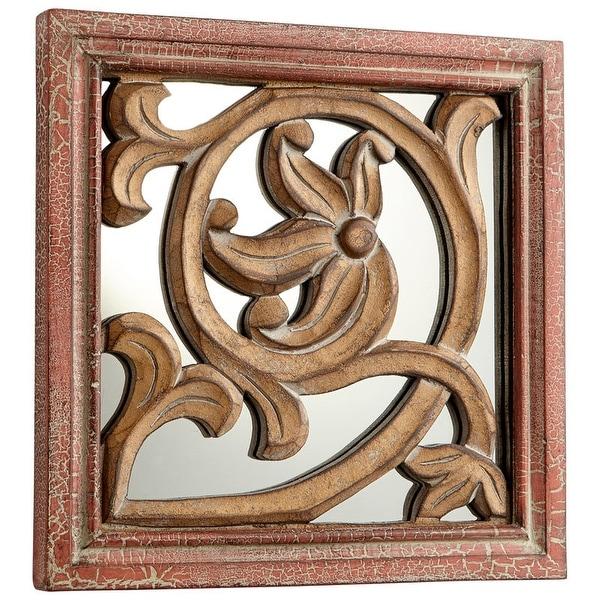 Shop Cyan Design Vitis Mirror 10 X 10 Vitis Square Wood Frame Mirror
