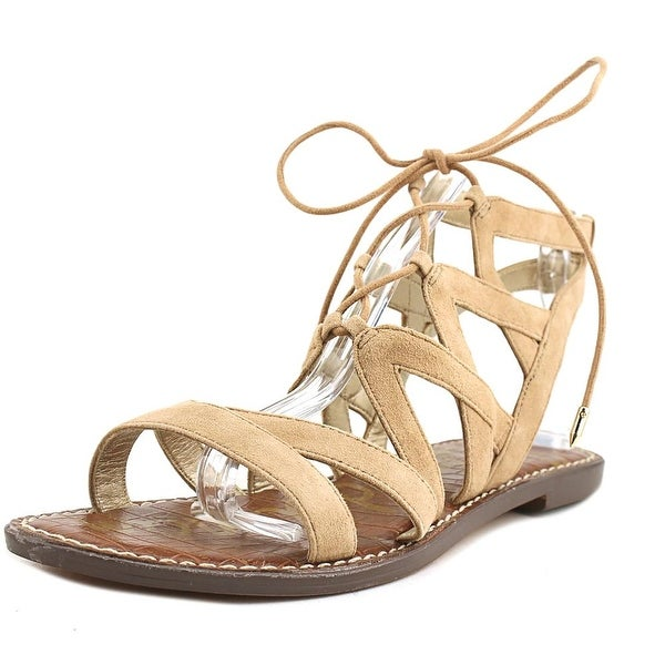 c1aa7315fe8 Shop Sam Edelman Gemma Women Open Toe Suede Tan Gladiator Sandal ...
