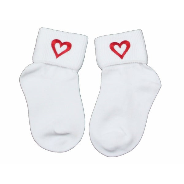 Sweetheart Socks say I Love You in Girls Sizes