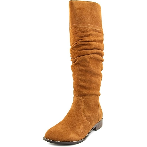 Very Volatile Pirata Women Round Toe Suede Tan Knee High Boot