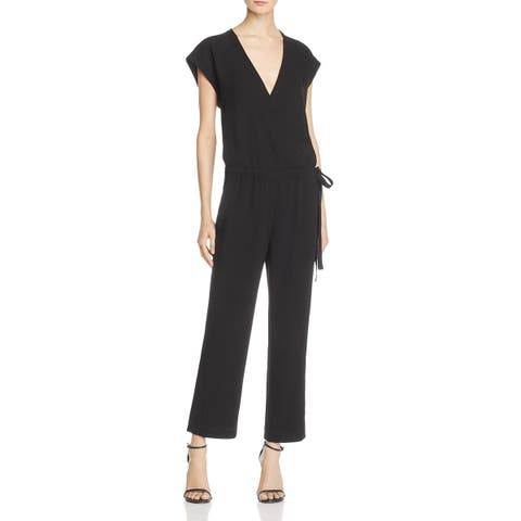 Theory Womens Lyoral Jumpsuit Cap Sleeves V-Neck