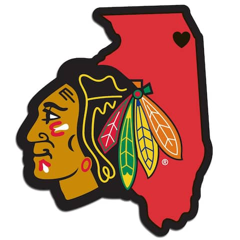 Chicago Blackhawks Decal Home State Pride Style