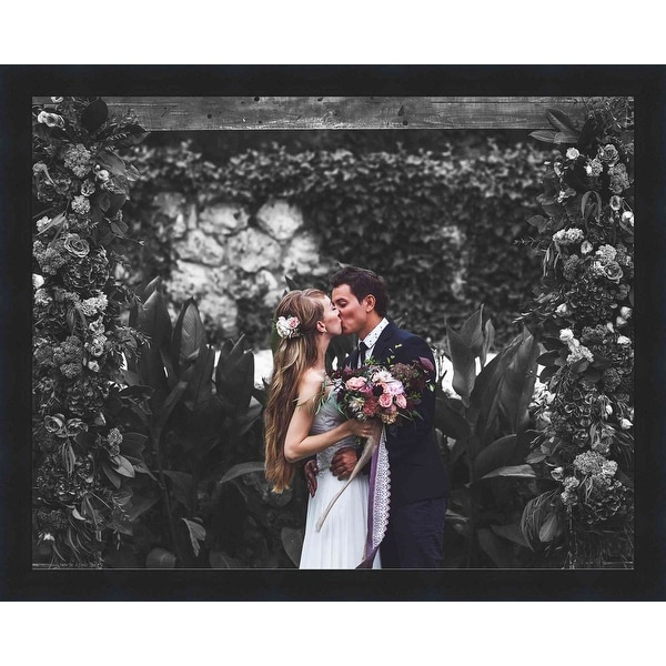 With Acrylic Front and Foam Board Backing 27x11 Black Wood Picture Frame