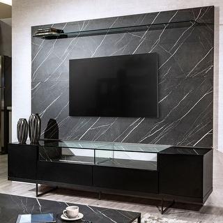Celine Mid Century Modern Wood 85.43 TV Stand and Panel