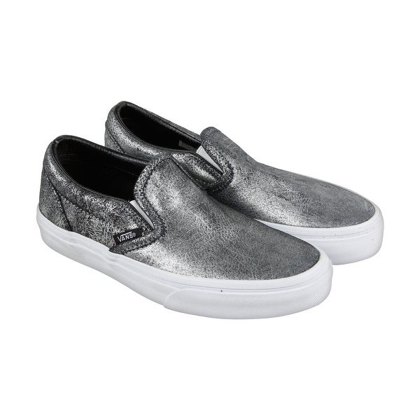 cfa52a3c9c Shop Vans Classic Slip On Mens Silver Leather Slip On Slip On Sneakers Shoes  - Free Shipping On Orders Over  45 - Overstock - 18179637