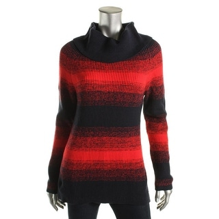Tommy Hilfiger Womens Cotton Striped Pullover Sweater - L
