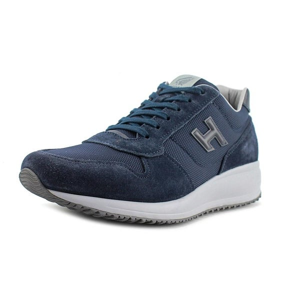 Hogan Interactive N20 Estiva H Round Toe Leather Sneakers