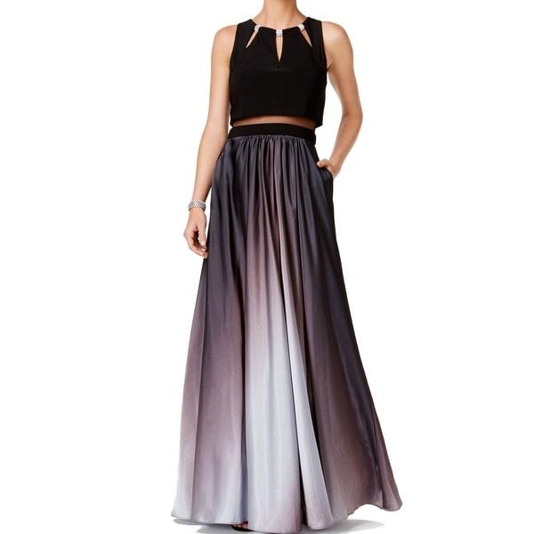 Shop Betsy & Adam NEW Black Silver Women\'s Size 2 Ombre Cutout Ball ...