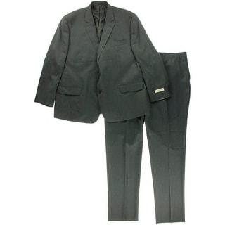 MICHAEL Michael Kors Mens Wool Two-Button Pant Suit - 50R