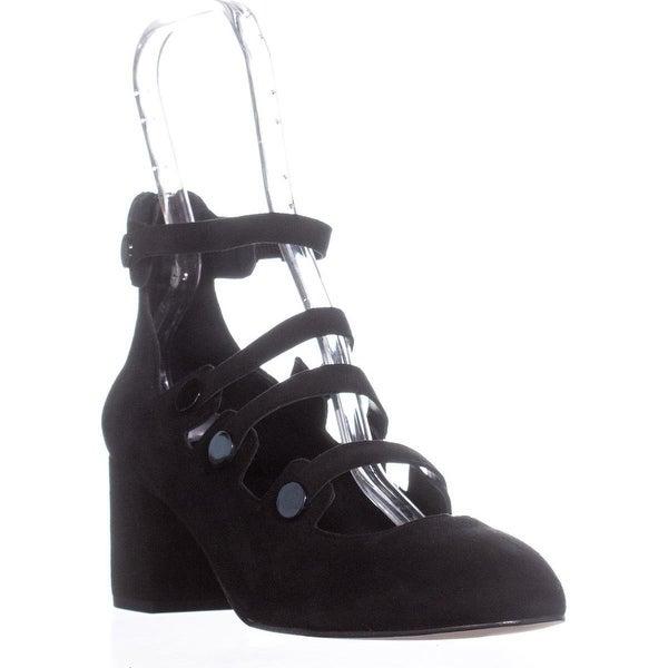 Rebecca Minkoff Blair Strappy Block Heel Pumps , Black - 9 us